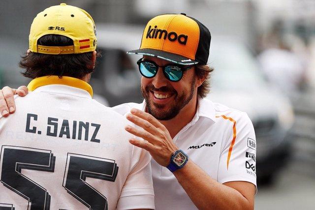 Fernando Alonso Carlos Sainz Mónaco