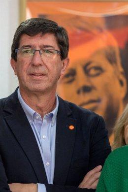 En Sevilla, rueda de prensa del presidente de Cs, Albert Rivera, y el portavoz d