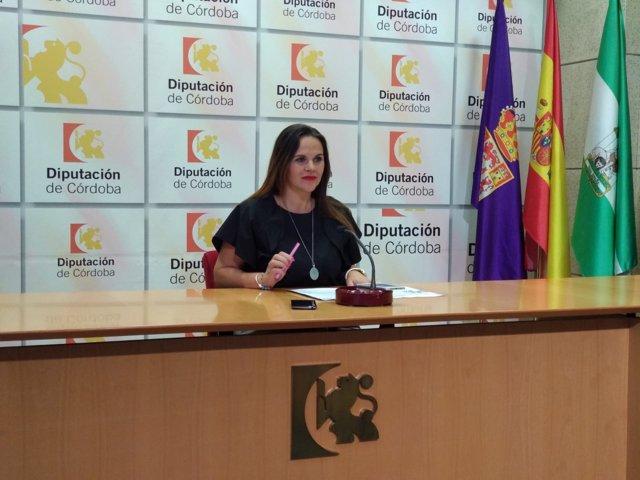Aurora Barbero en rueda de prensa