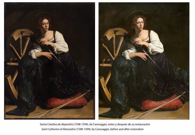 Imagen de Santa Catalina, de Caravaggio
