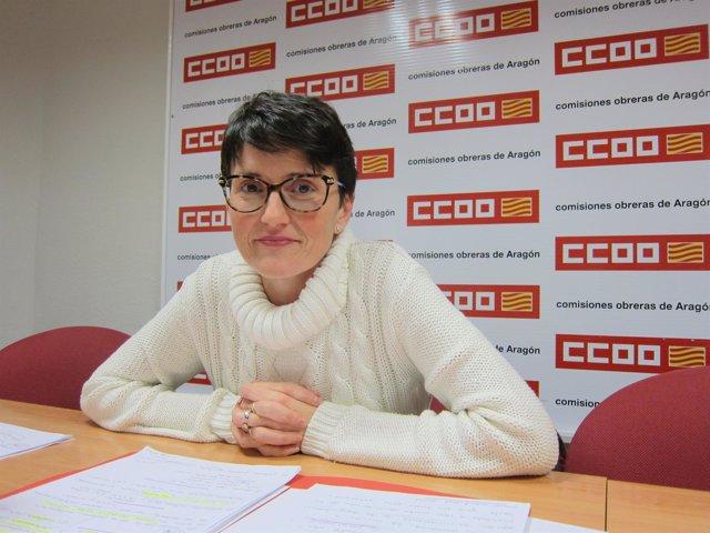 Marta Arjol ha presentado el informe sobre inmigración hoy en la sede de CCOO