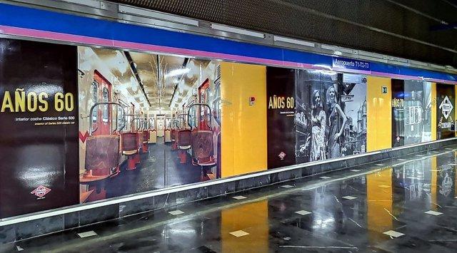 Imagénes de la muestra fotográfica sobre la historia de Metro de Madrid