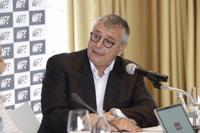 Michael Robinson en la presentación de World Football Summit 2018