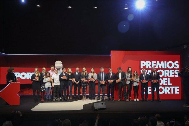 Galardonados en los I Premios Valores del Deporte del diario Sport