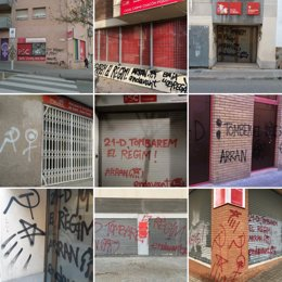 Pintadas en nueve sedes del PSC