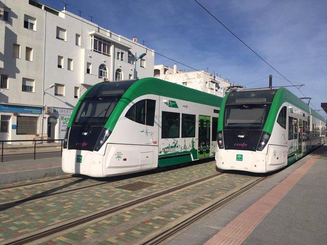 Trenes tranvías de la Bahía de Cádiz