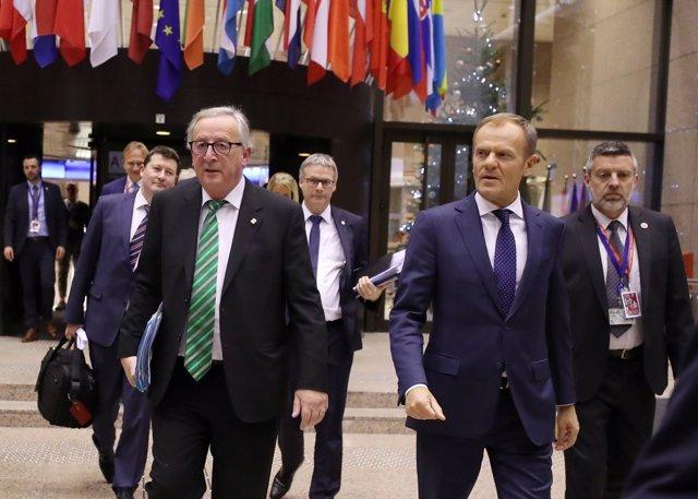 Jean-Claude Juncker and Donald Tusk