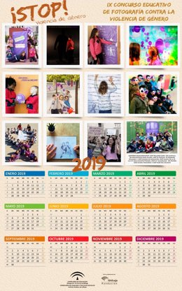 Calendario novena edición contra la violencia de género málaga educación escolar