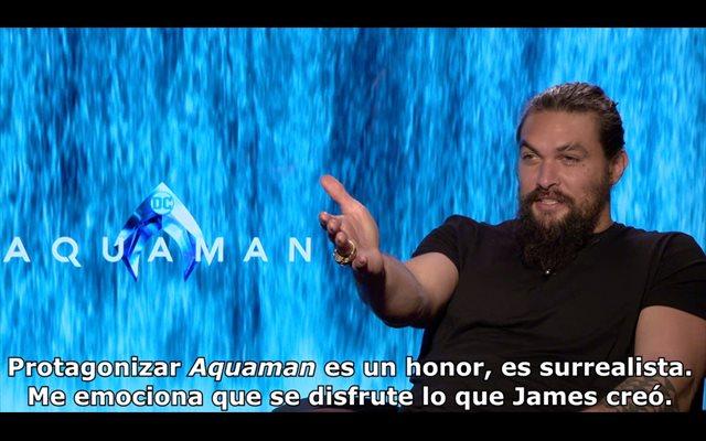 Jason Momoa es Aquaman: 'De niño era fan de los villanos'