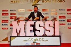 Messi rep la seva cinquena Bota d'Or: