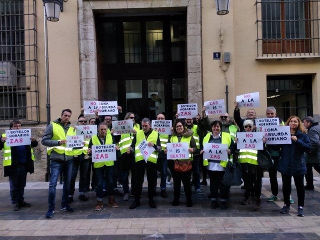 Protesta d'hostelers per les zones ZAS