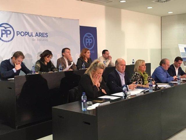 Reunión de la dirección autonómica del PP asturiano