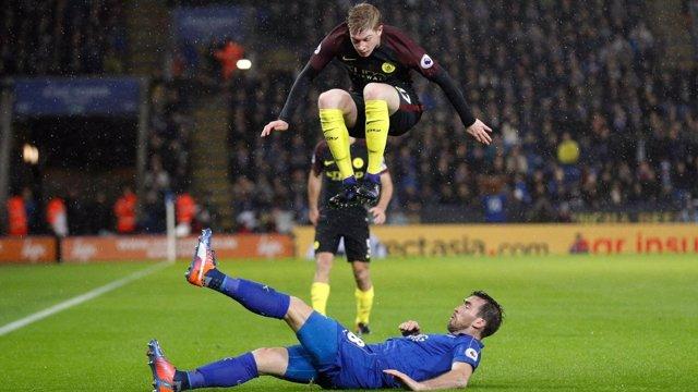 De Bruyne en el Leicester - Manchester City