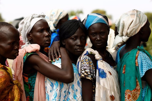 Mujeres sursudanesas en el estado de Unity