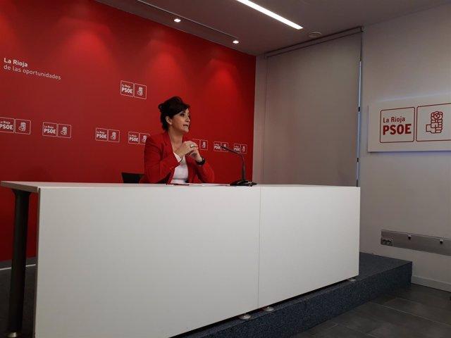 La portavoz del PSOE en el Parlamento Concha Andreu