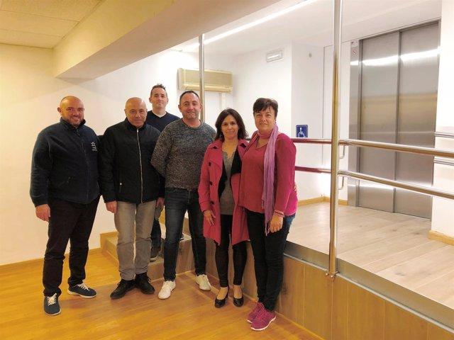 El nuevo ascensor instalado en las oficinas del IME en Son Moix