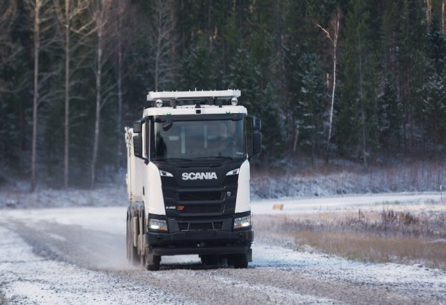 Camión autónomo Scania 8x4