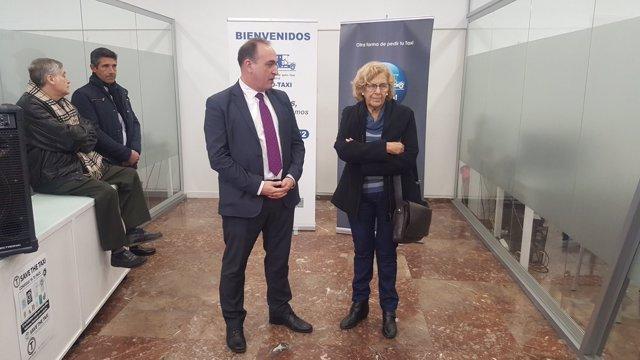 La Asociación gremial de Auto-Taxi de Madrid con Carmena