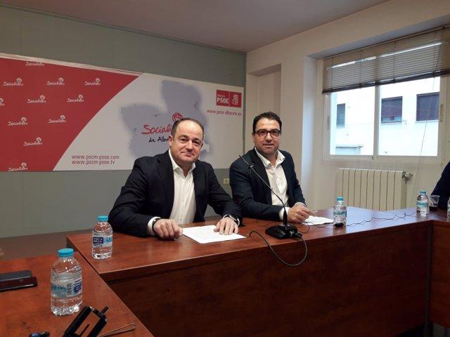 Saez y Belinchón en rueda de prensa