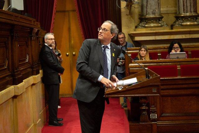 Debate sobre los plenos del 6-7 de septiembre de 2017 en el Parlament de Catalunya