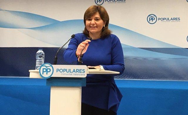Isabel Bonig comparece ante los medios (archivo)