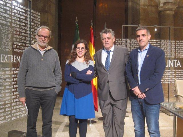 Sebastián Celestino, Esther Rodríguez, Jesús Alonso y Abel González