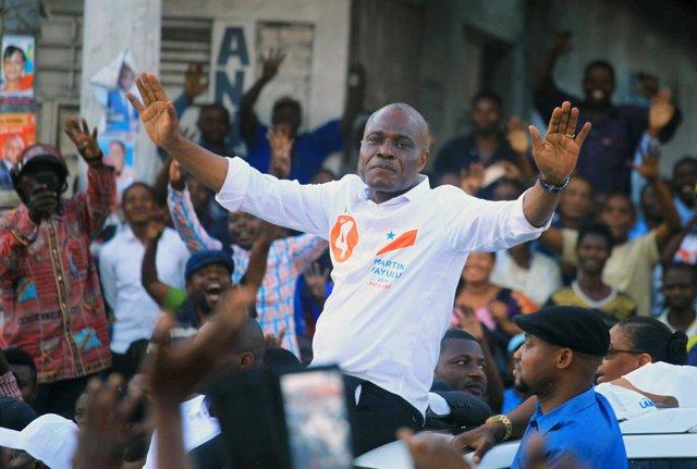 Candidato opositor congoleño Martin Fayulu