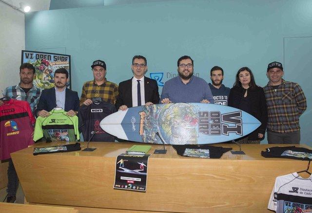 Presentación del VI Open Yerbabuena de Surf de Barbate