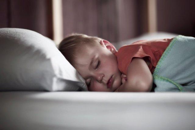 Dormir, niño, dormido, cama