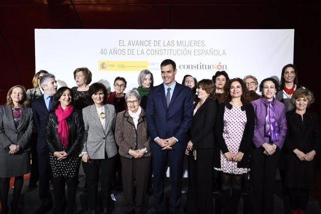 """Celebración del acto """"El avance de las mujeres: 40 años de la Constitución Españ"""