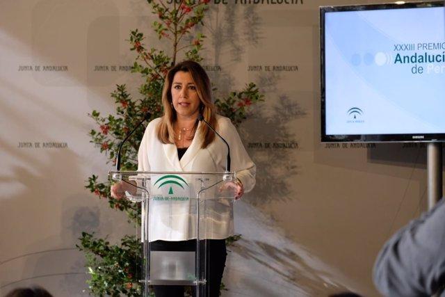 Susana Díaz preside los Premios Andalucía de Periodismo