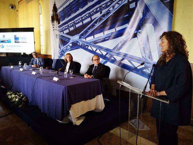 La presidenta de Puertos del Estado en la presentación de la nueva línea de MSC