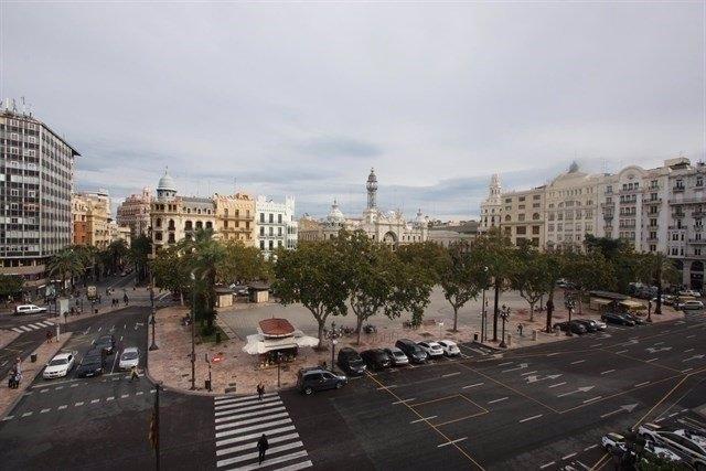 Imagen de archivo de la plaza del Ayuntamiento de València