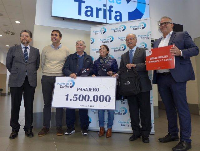 Pasajero millón y medio del puerto de Tarifa