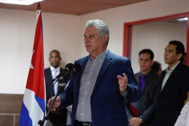 El presidente de Cuba, Miguel Díaz-Canel