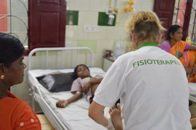 Fisioterapeuta voluntario en la India