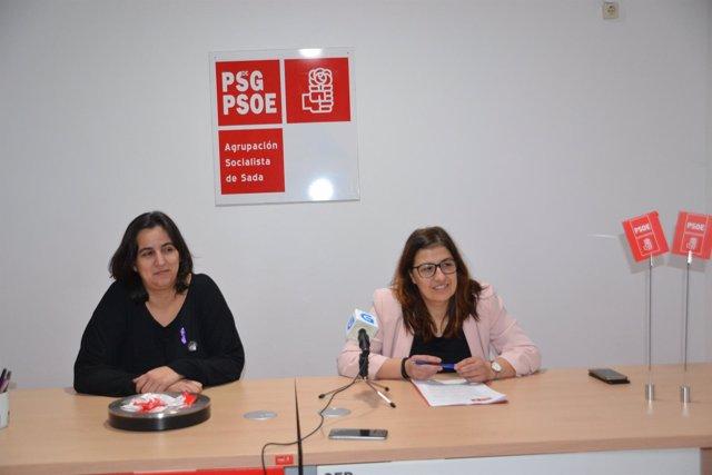 Concejales PSOE Sada Raquel Bolaño y María Pardo