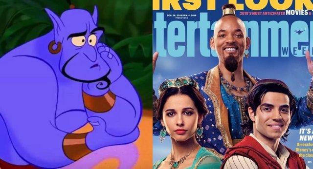 El genio de Aladdin y su versión de Will Smith