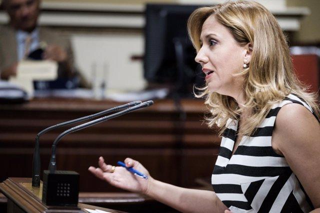 Rosa Dávila, portavoz y consejera de Hacienda del Gobierno de Canarias