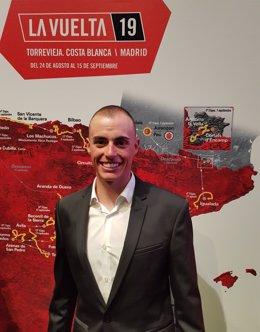 El ciclista Enric Mas tras la presentación de La Vuelta de 2019