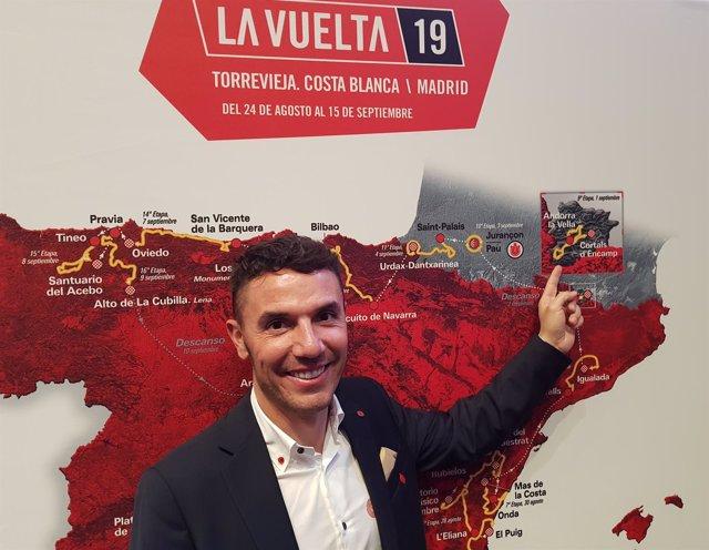 Joaquim 'Purito' Rodríguez en la presentación de La Vuelta 2019