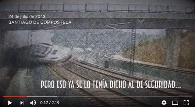 Captura del video de las víctimas de Angrois en el quinto aniversario