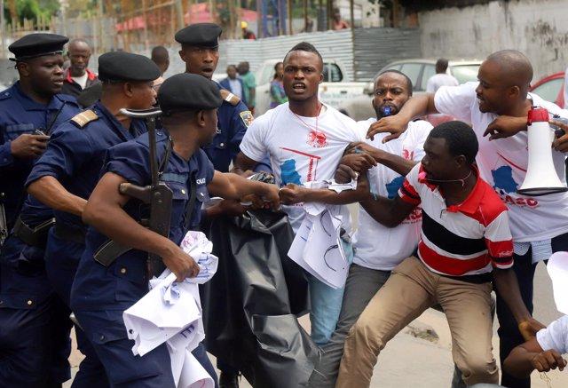 Protestas en Kinshasa, capital de República Democrática del Congo