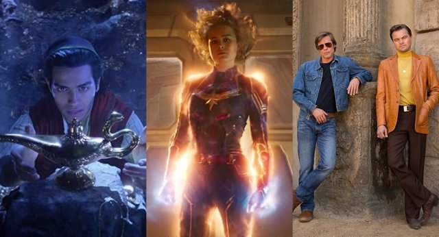 Aladdin, Captain Marvel, Once Upon A Time In Hollywood