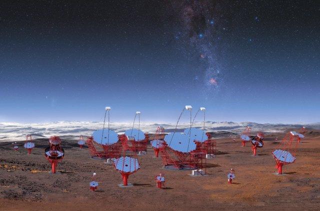Telescopios CTA en el hemisferio sur