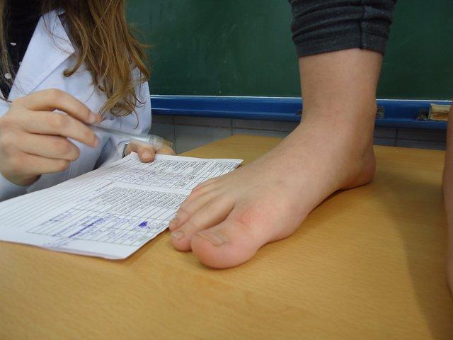 Estudio de la postura del pie de un niño