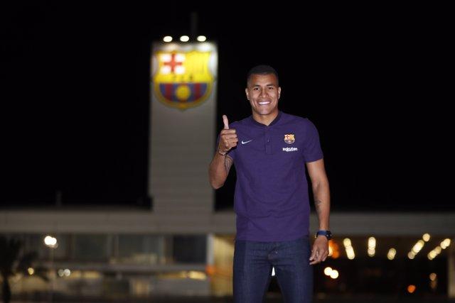 El nuevo jugador del FC Barcelona Jeison Murillo