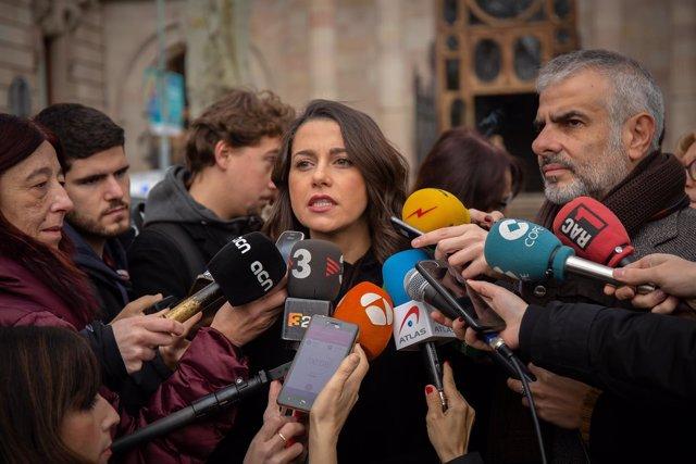 Inés Arrimadas se querella contra el president del Parlament, Roger Torrent
