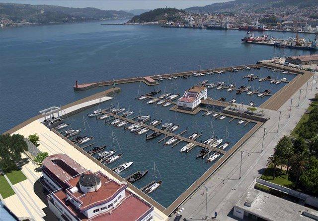 Parte del puerto de Vigo
