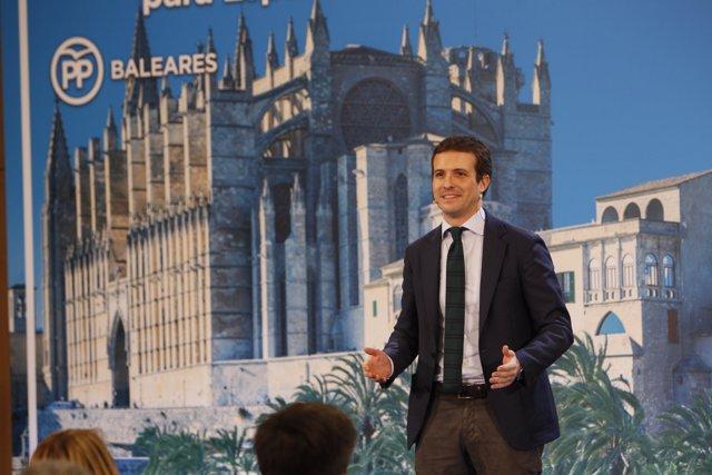Pablo Casado presenta a los candidatos del PP de las Islas Baleares